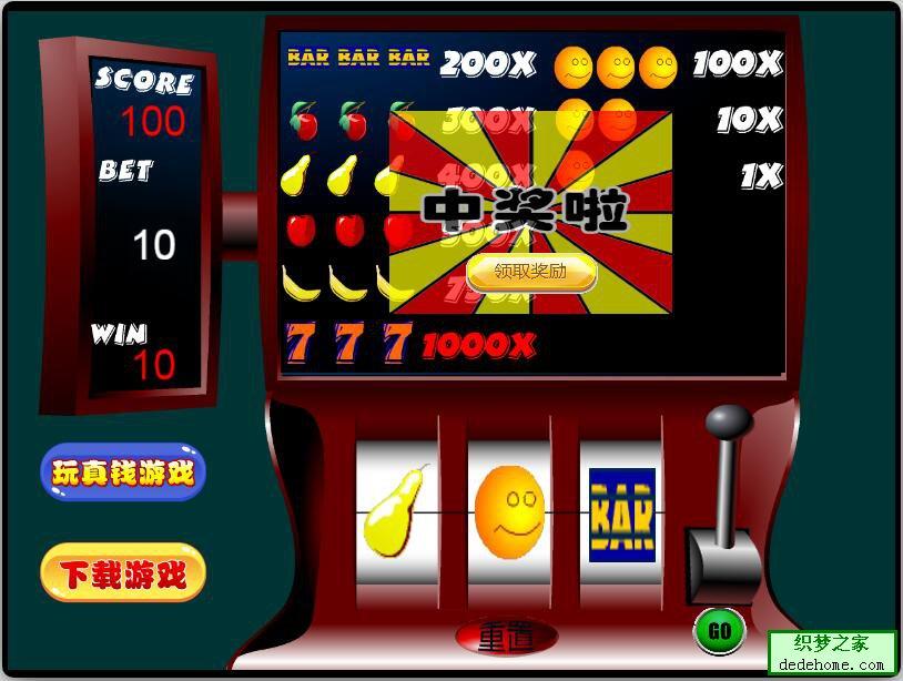 织梦之家cocos creator开发的网页版水果老-虎机游戏,